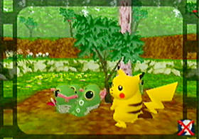 Dos tiernos Pokémon Caterpie
